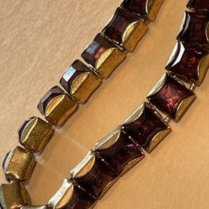 Vintage Albert Weiss Purple Rhinestone Bracelet